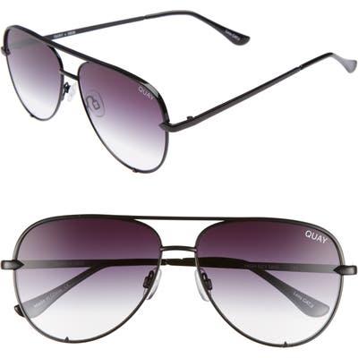 Quay Australia High Key Mini 5m Aviator Sunglasses - Black/ Fade