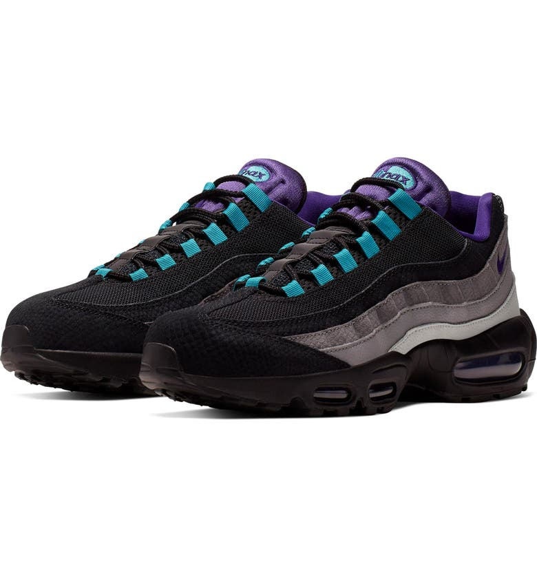 NIKE Air Max 95 LV8 Sneaker, Main, color, BLACK/ COURT PURPLE/ TEAL