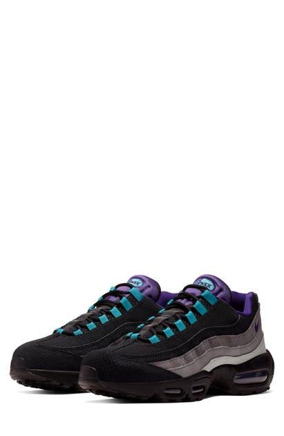 Nike Air Max 95 LV8 Trainer | Black Court Purple Teal