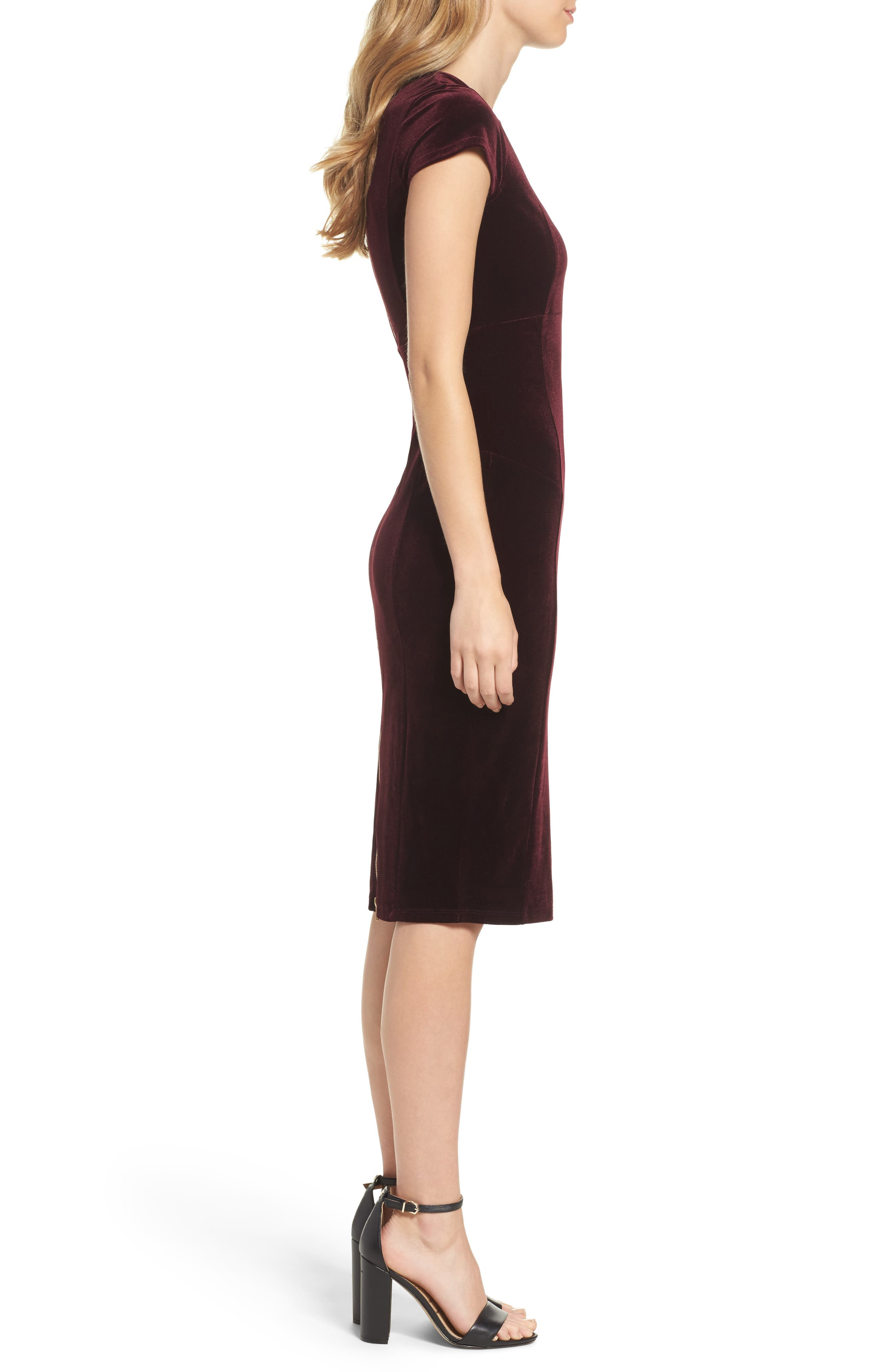 ,                             Vista Velvet Midi Dress,                             Alternate thumbnail 9, color,                             935
