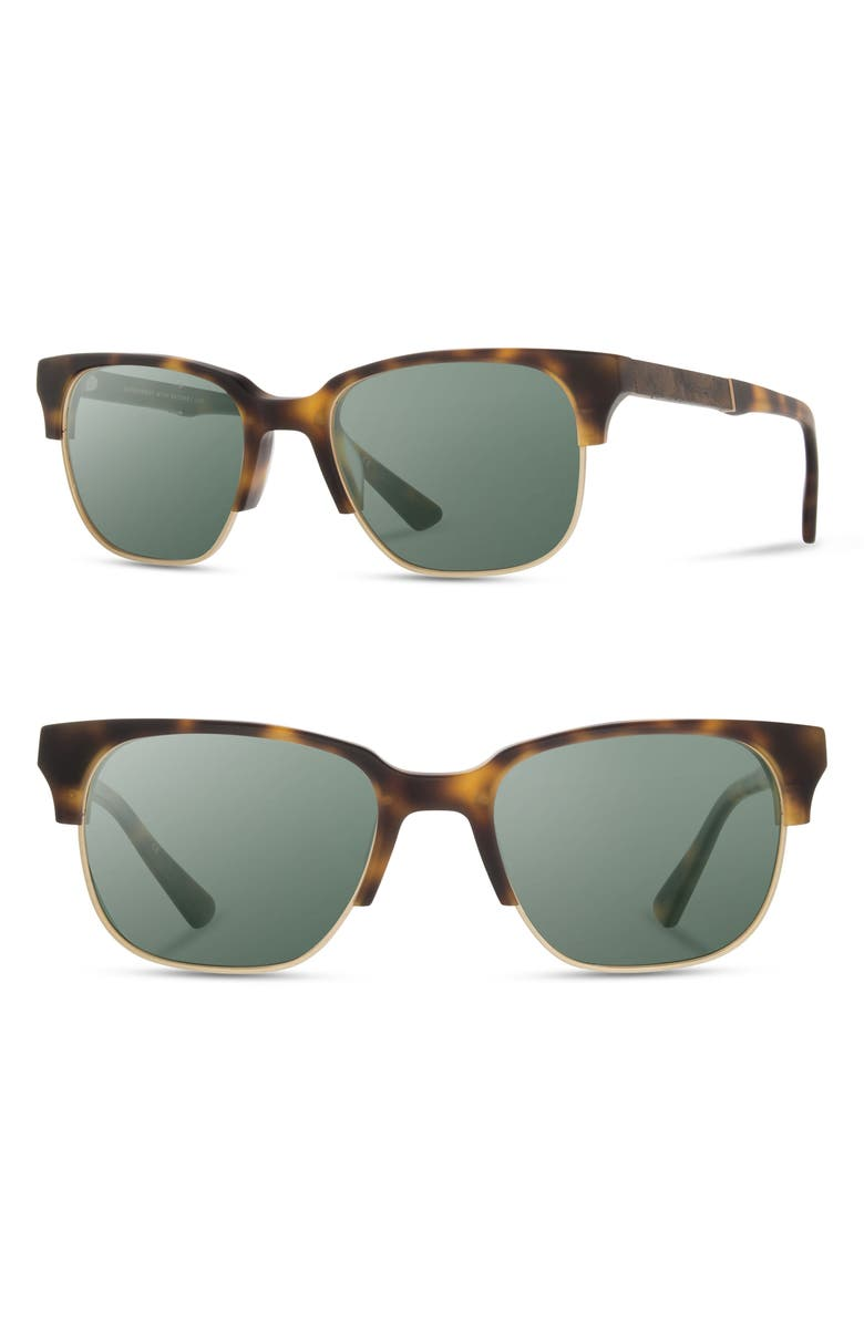 SHWOOD 'Newport' Sunglasses, Main, color, MATTE BRINDLE/ ELM
