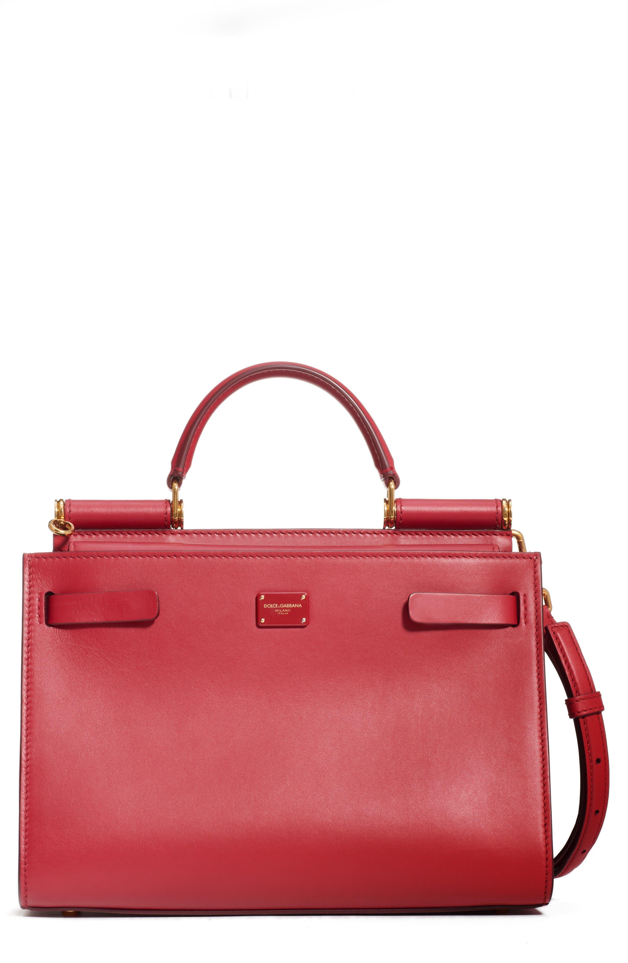 Dolce&Gabbana Sicily 62 Leather Satchel   Nordstrom
