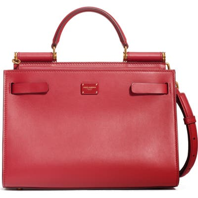 Dolce & gabbana Sicily 62 Leather Satchel - Red