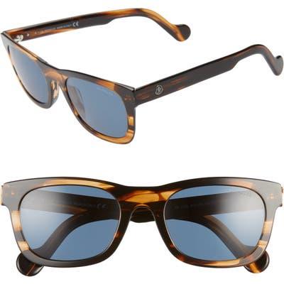 Moncler 5m Polarized Sunglasses - Dark Brown/ Blue