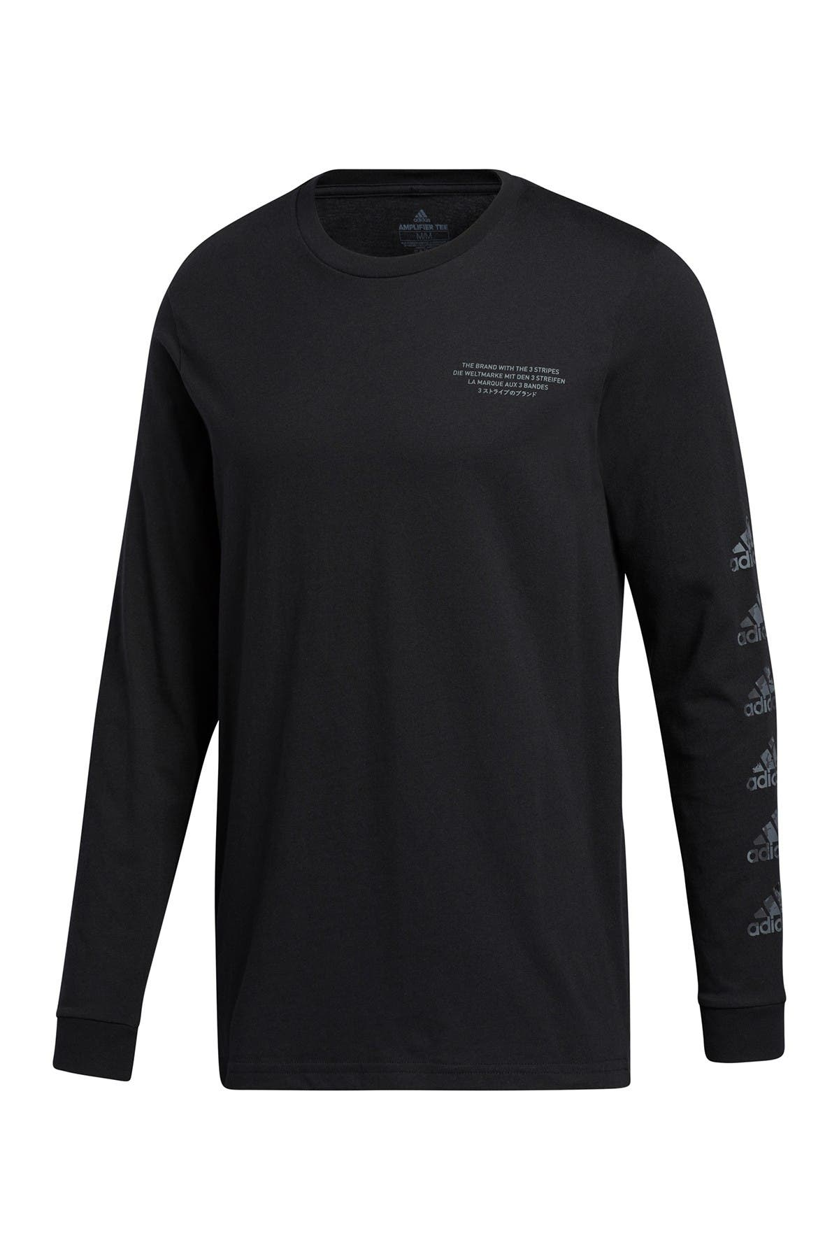 Image of adidas Continental Camo Graphic Long Sleeve T-Shirt