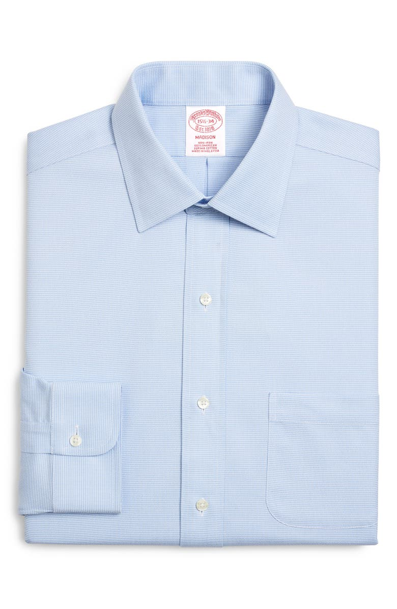 BROOKS BROTHERS Classic Fit Dress Shirt, Main, color, VISTA BLUE