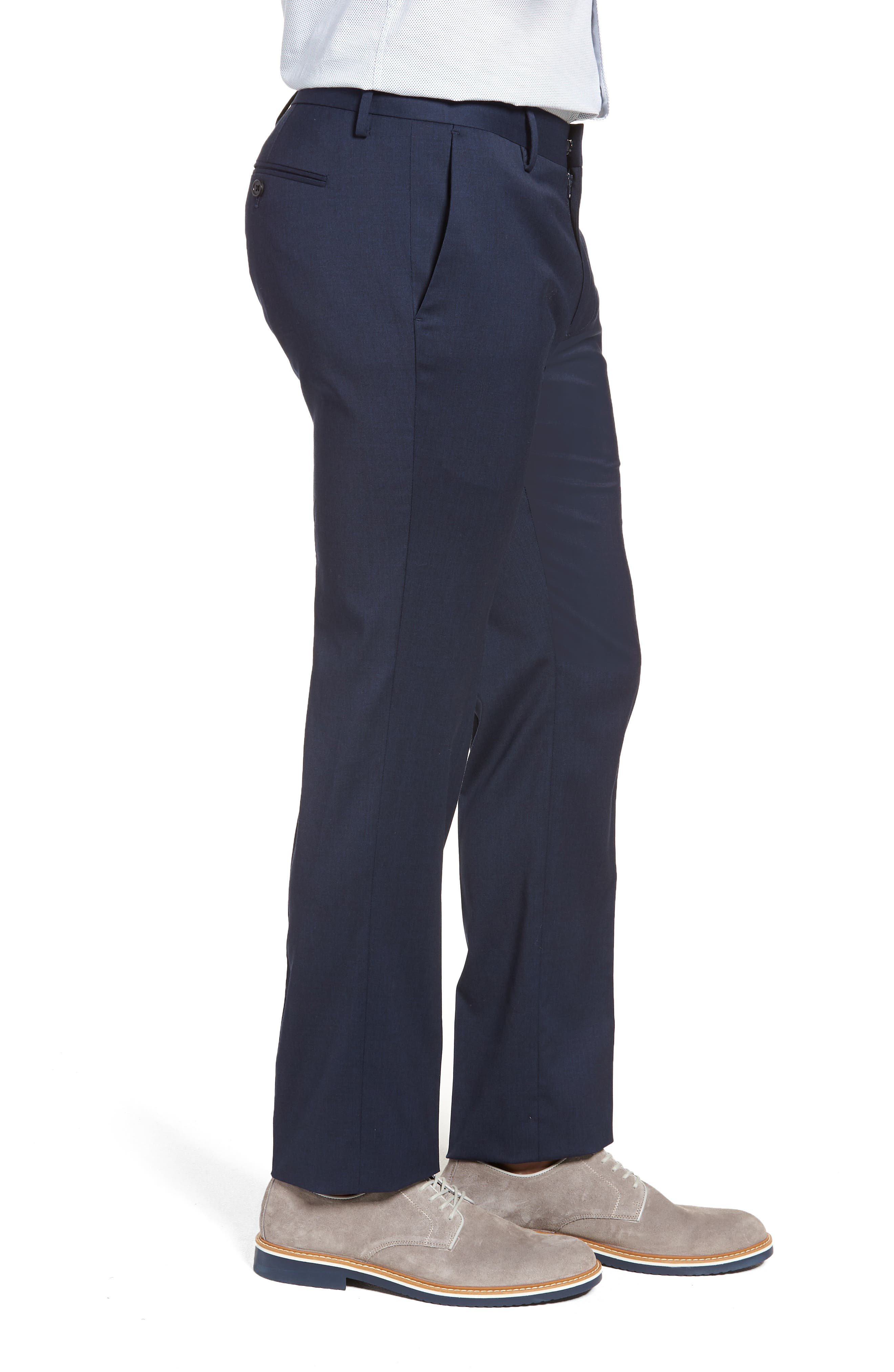 ,                             Jetsetter Slim Fit Flat Front Stretch Wool Trousers,                             Alternate thumbnail 38, color,                             401
