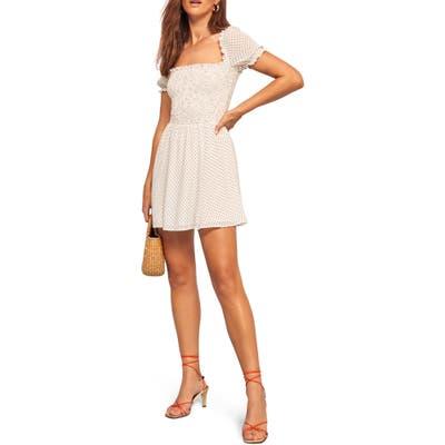 Reformation Bambina Skater Dress, White