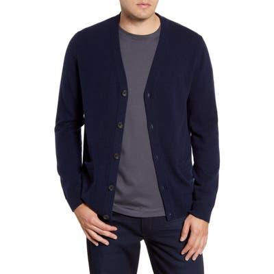 Nordstrom Shop Cashmere Button Front Cardigan, Blue
