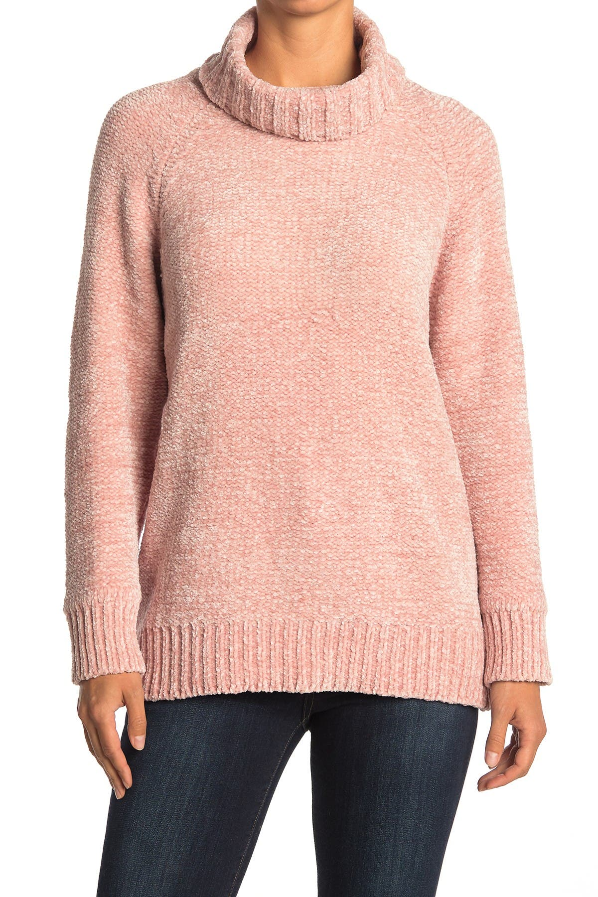Image of Lush Chenille Knit Turtleneck Sweater