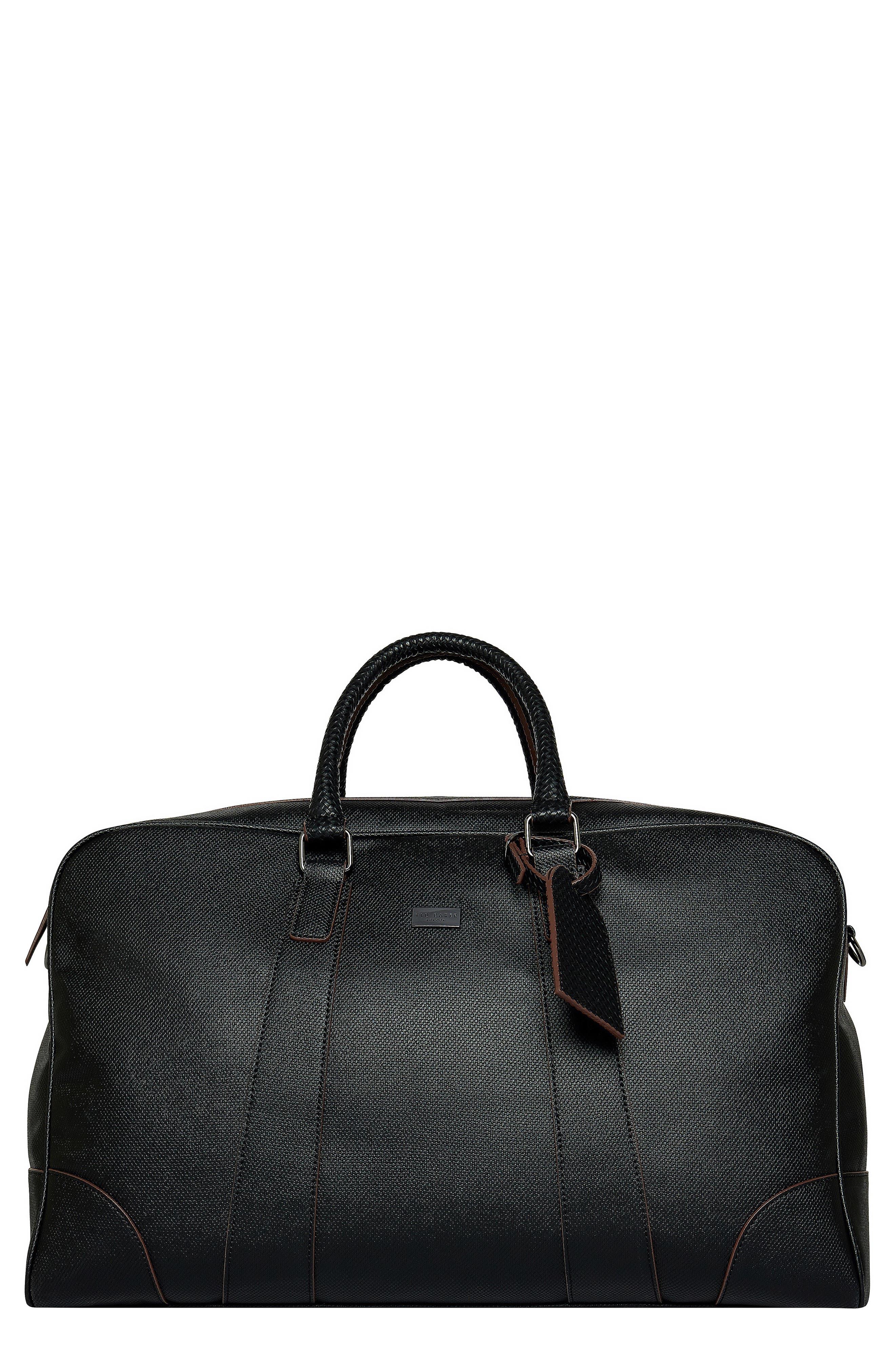Faux Leather Duffle Bag