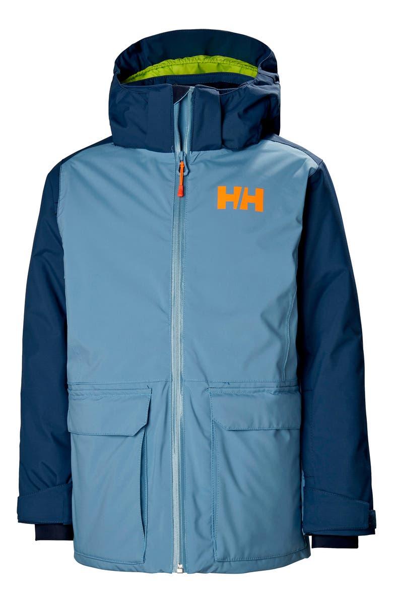 HELLY HANSEN Skyhigh Waterproof Insulated Ski Jacket, Main, color, BLUE FOG