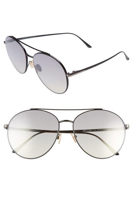 Image of Tom Ford Cleo 59mm Aviator Sunglasses