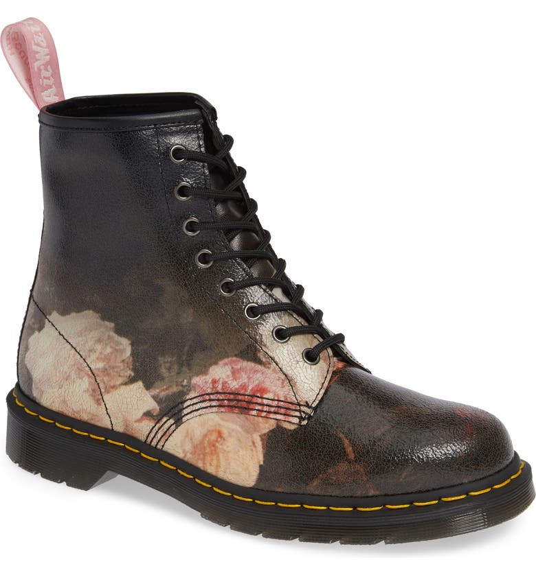 DR. MARTENS 1460 Power Floral Leather Boot, Main, color, 001