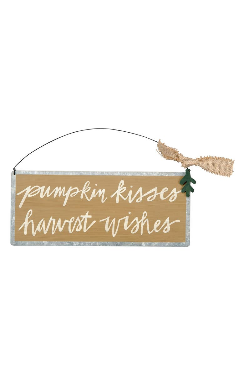 PRIMITIVES BY KATHY 'Pumpkin Kisses, Harvest Wishes' Wall Art, Main, color, 200