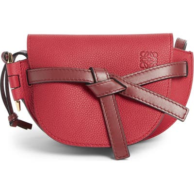 Loewe Gate Mini Leather Crossbody Bag - Red