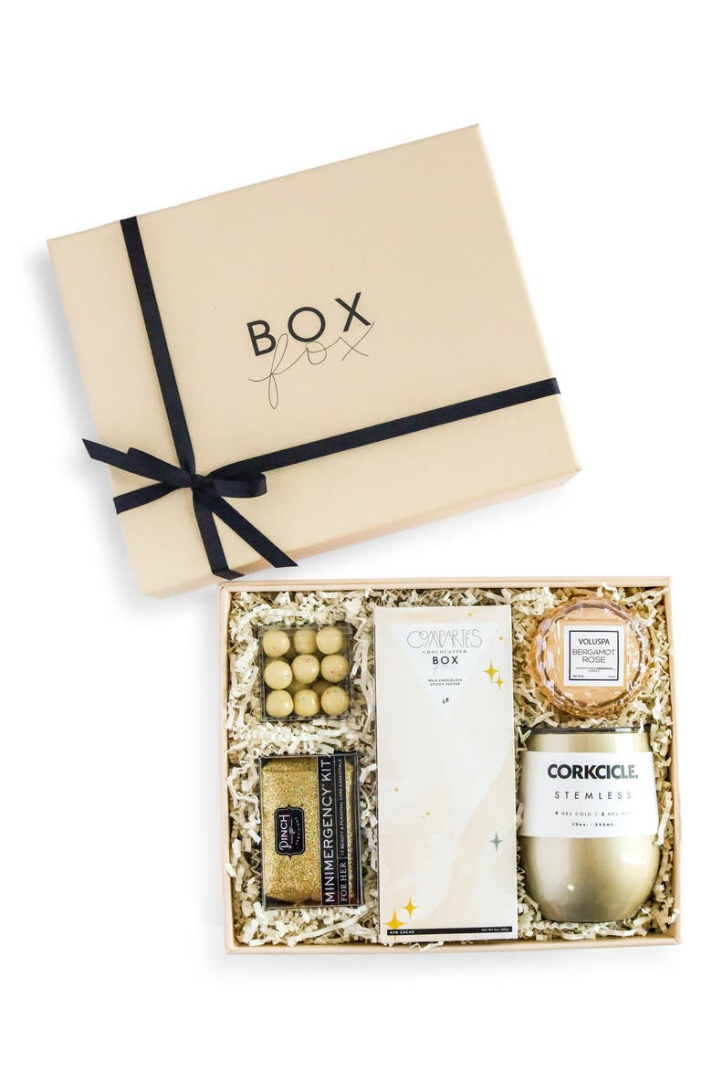 BOXFOX Birthday Gift Box, Main, color, NUDE