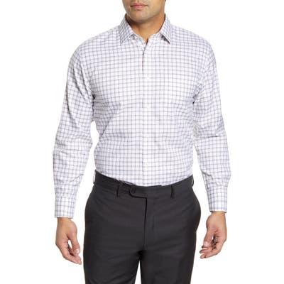 Nordstrom Shop Smartcare(TM) Traditional Fit Plaid Dress Shirt - Brown
