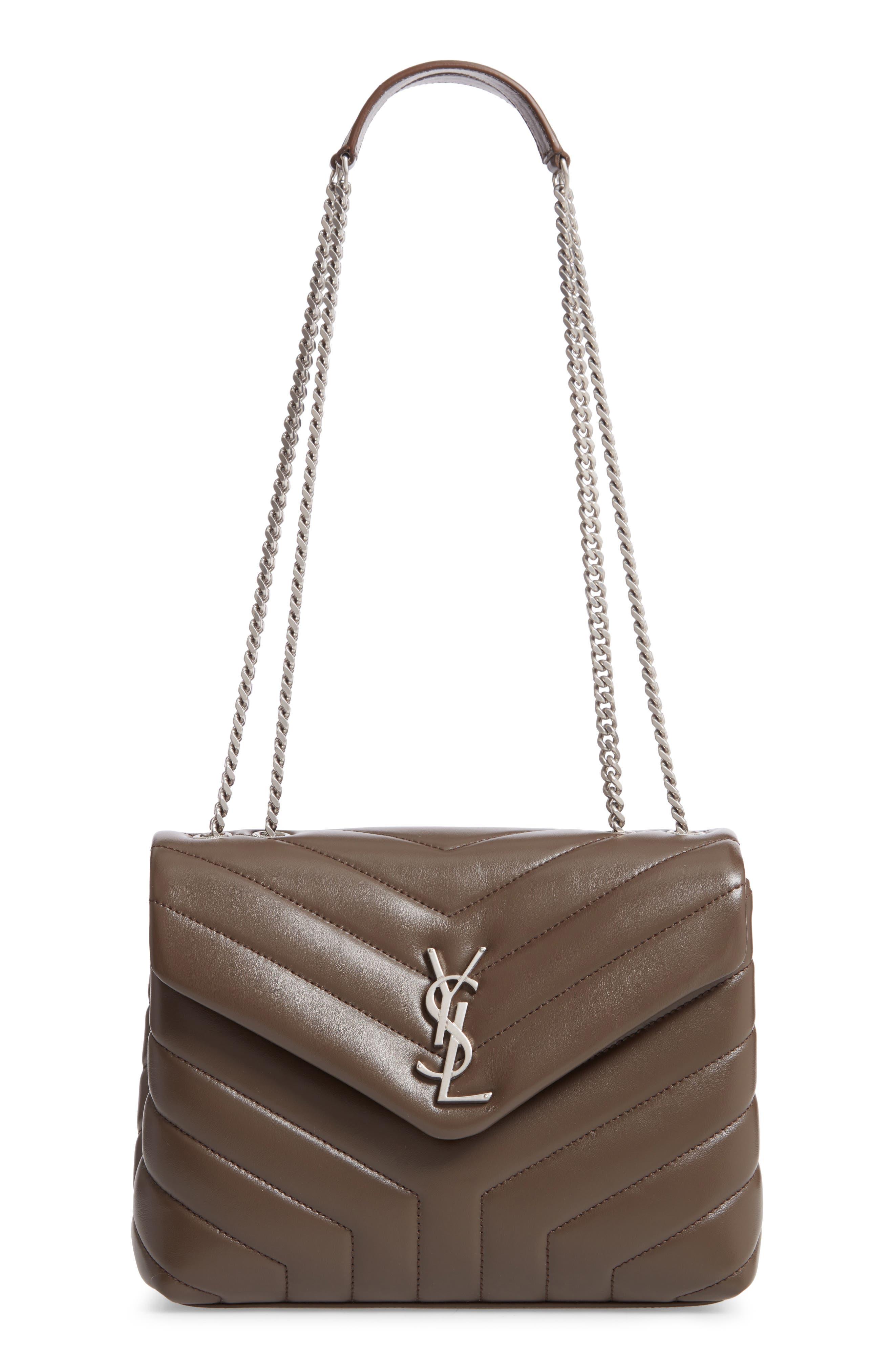 ,                             Small Loulou Matelassé Leather Shoulder Bag,                             Main thumbnail 1, color,                             FAGGIO/ FAGGIO