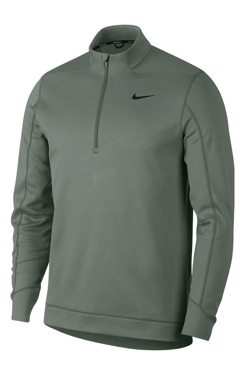 NIKE Half Zip Thermal Golf Pullover, Main, color, VINTAGE LICHEN/ BLACK