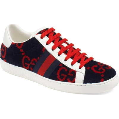 Gucci New Ace Logo Sneaker, Blue