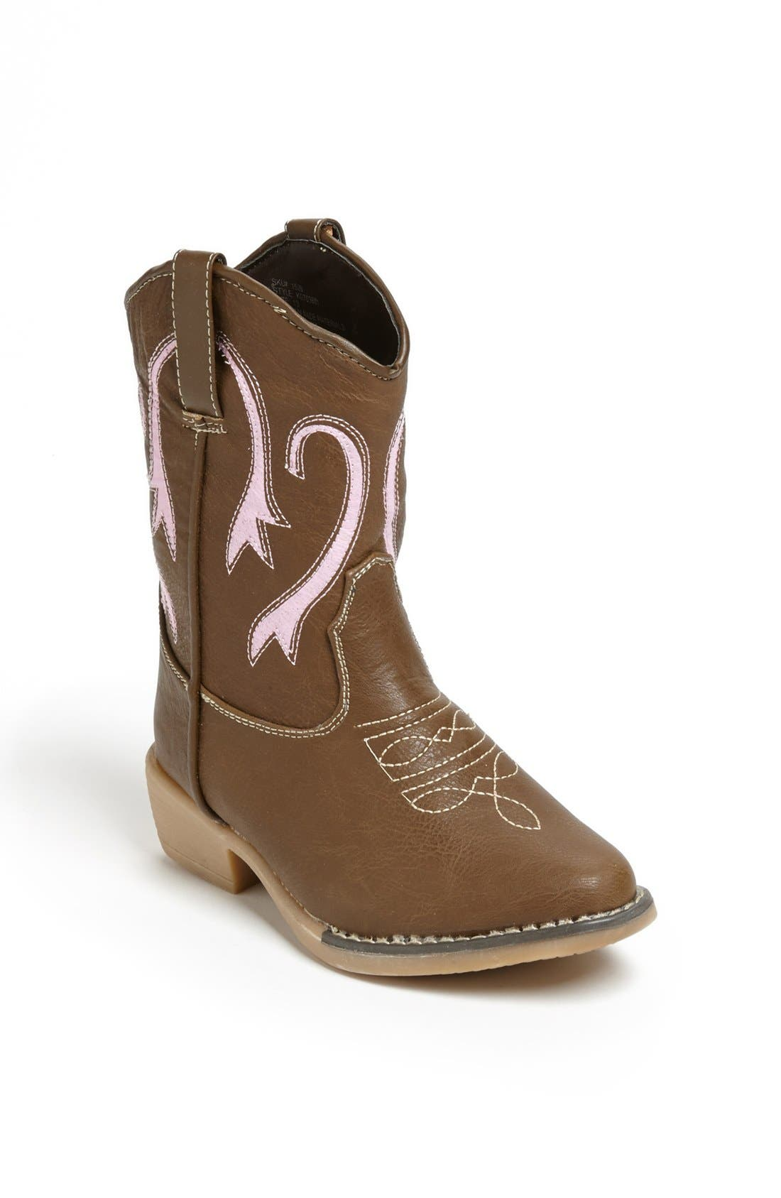 Kensie Girl Girls Western Cowboy Boot BROWN Size 1 Little Girl/' Shoes
