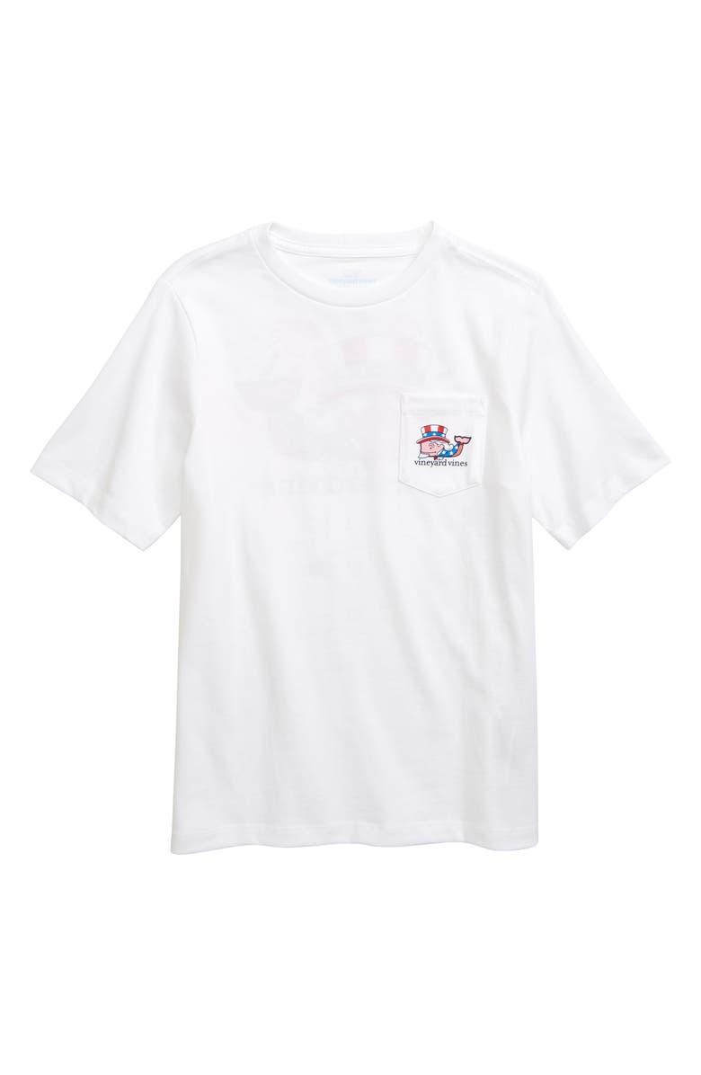 VINEYARD VINES Uncle Sam Whale Pocket T-Shirt, Main, color, 100