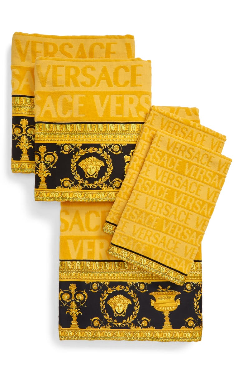 VERSACE Barocco 5-Piece Towel Set, Main, color, GOLD