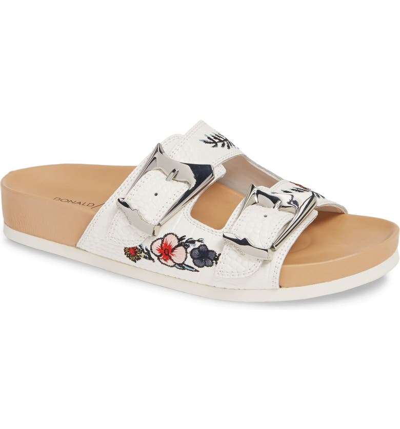 Donald Pliner Baylie Embroidered Slide Sandal Women