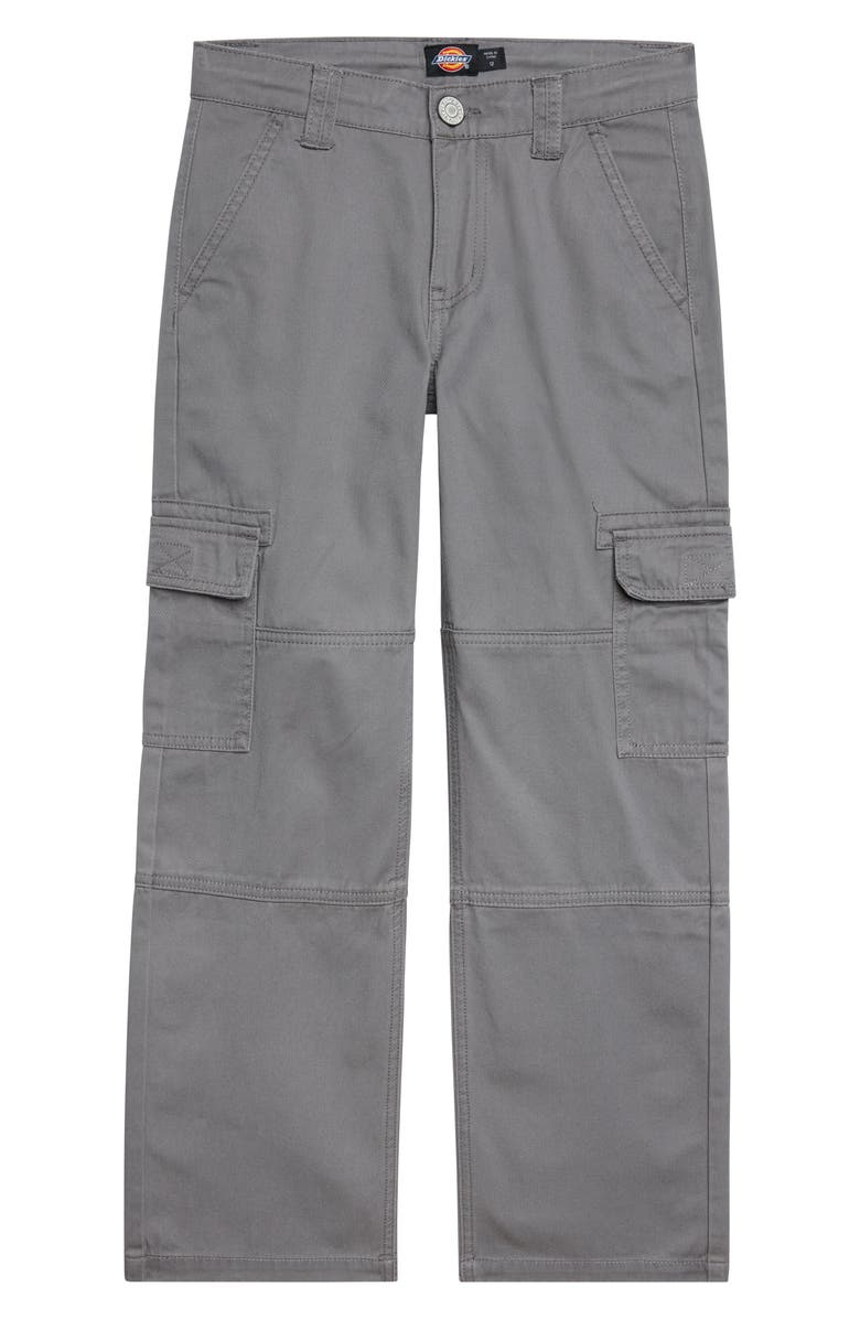 DICKIES Heritage Cotton Twill Cargo Pants, Main, color, CHARCOAL