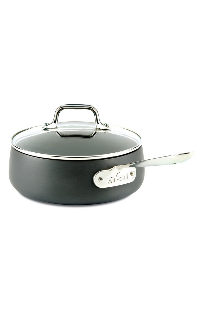 ALL-CLAD HA1 2.5-Quart Saucepan with Lid, Main, color, 001