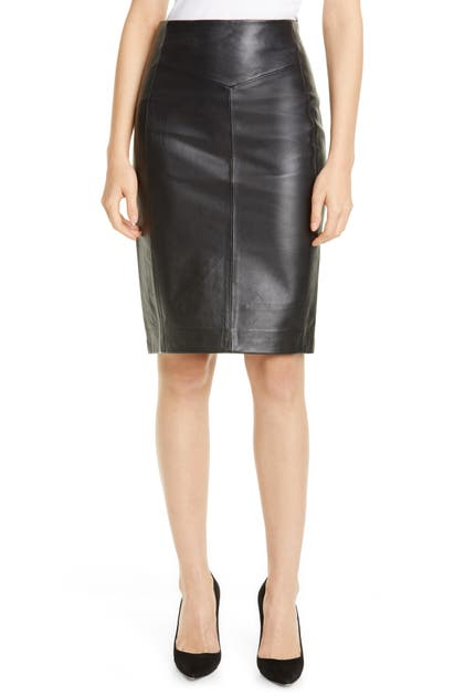 Reiss Skirts MEGAN LEATHER PENCIL SKIRT