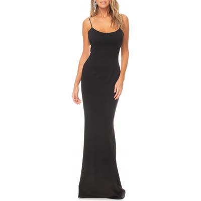 Katie May Forget Me Knot Cutout Gown, Black