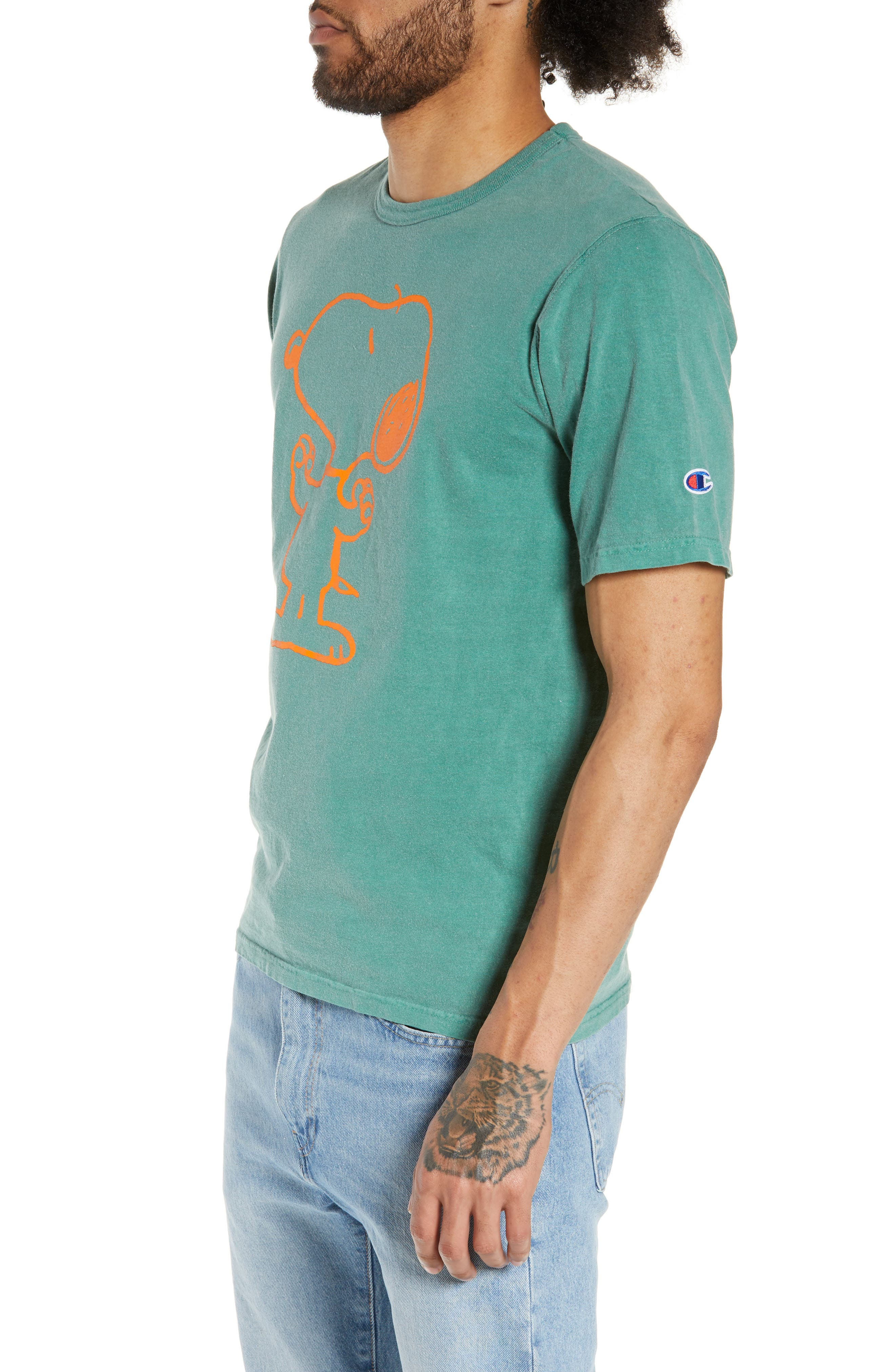 ,                             Heritage Snoopy T-Shirt,                             Alternate thumbnail 4, color,                             GRASS HOOPER