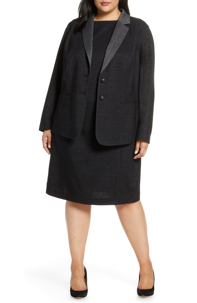 LAFAYETTE 148 NEW YORK Rozella Jacket, Main, color, BLACK MULTI