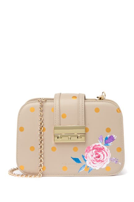 Image of Belle & Bloom Belle Fleur Leather Crossbody Bag