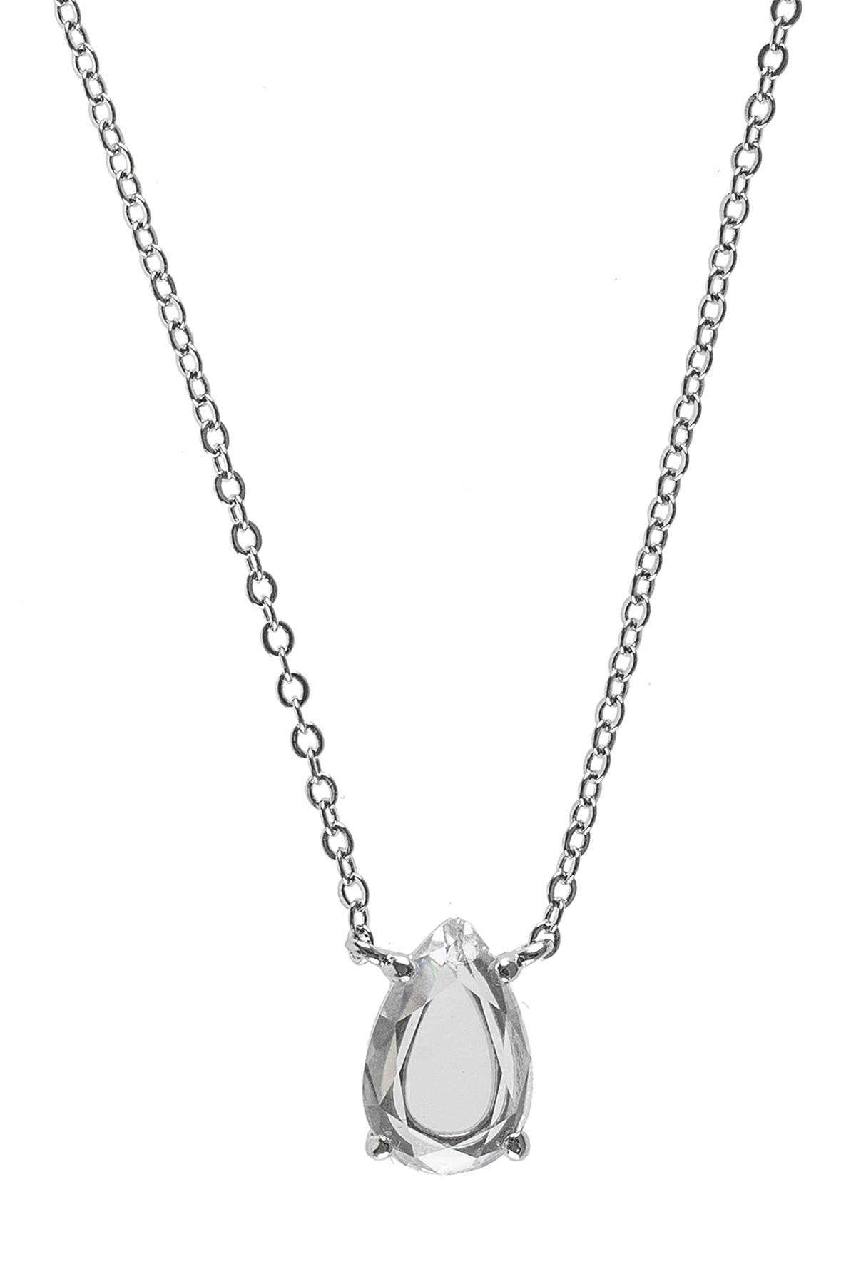 Image of CZ By Kenneth Jay Lane Prong Set Faceted Pear CZ Necklace