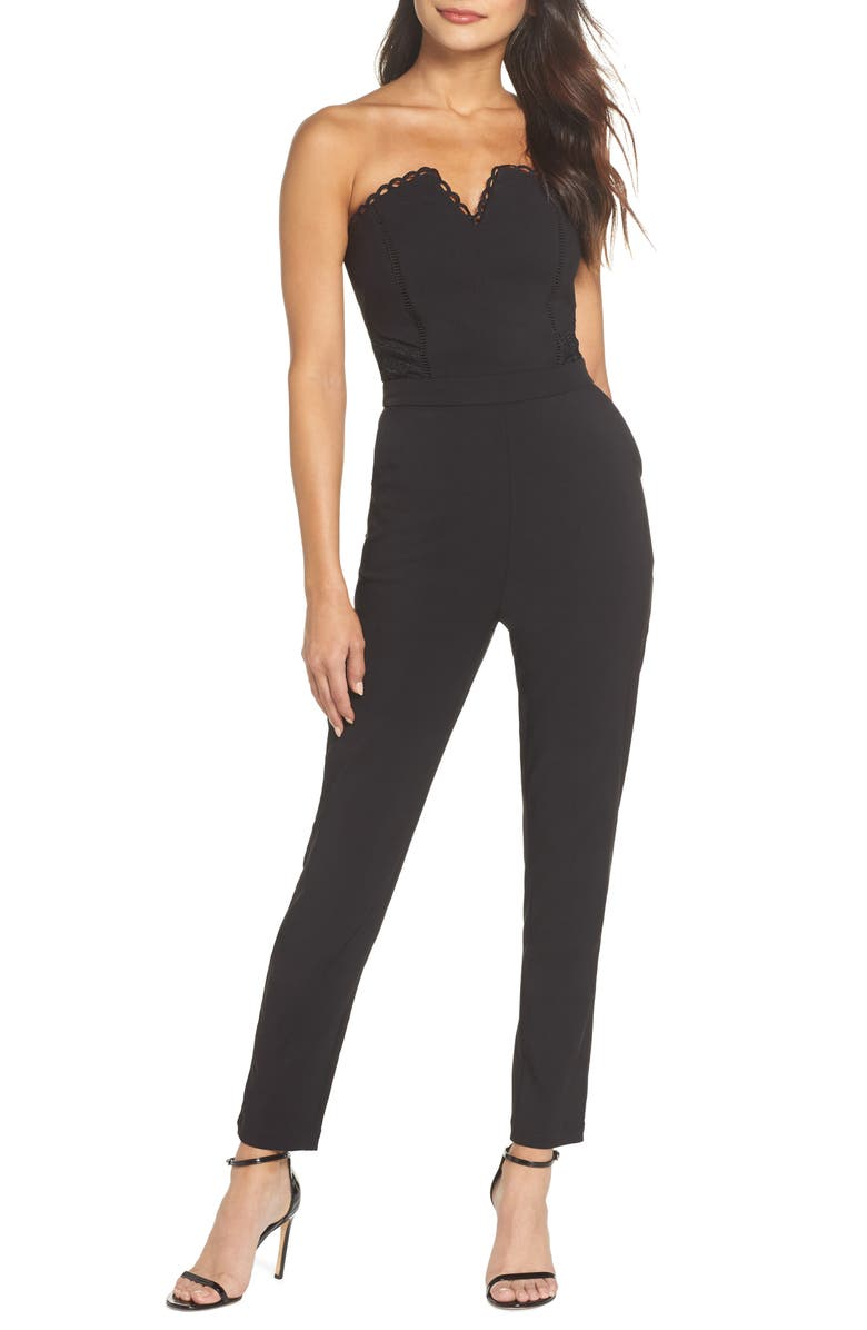 HARLYN Strapless Jumpsuit, Main, color, 001