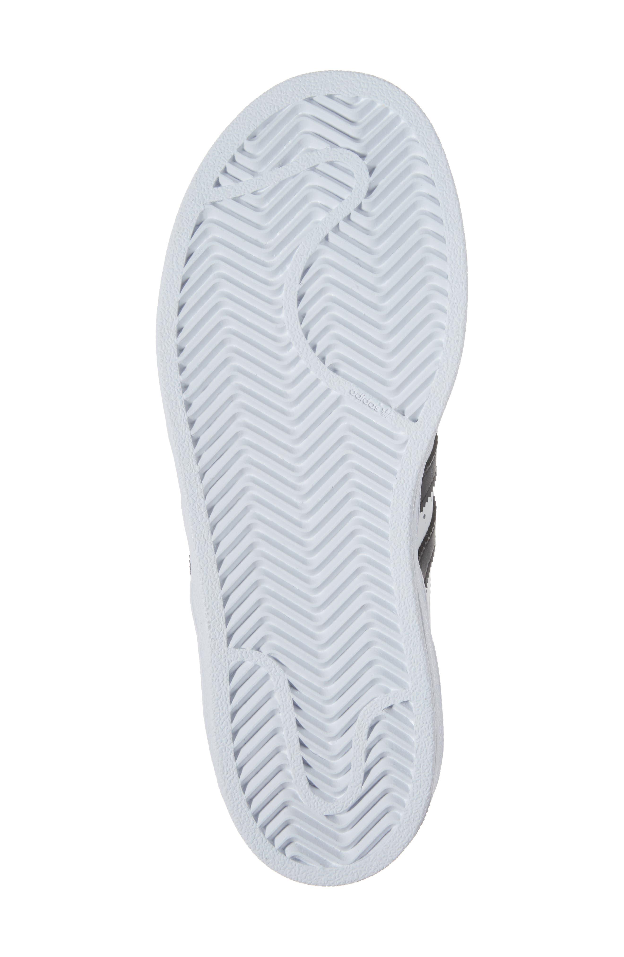 ,                             'Superstar Foundation' Sneaker,                             Alternate thumbnail 6, color,                             WHITE/ BLACK