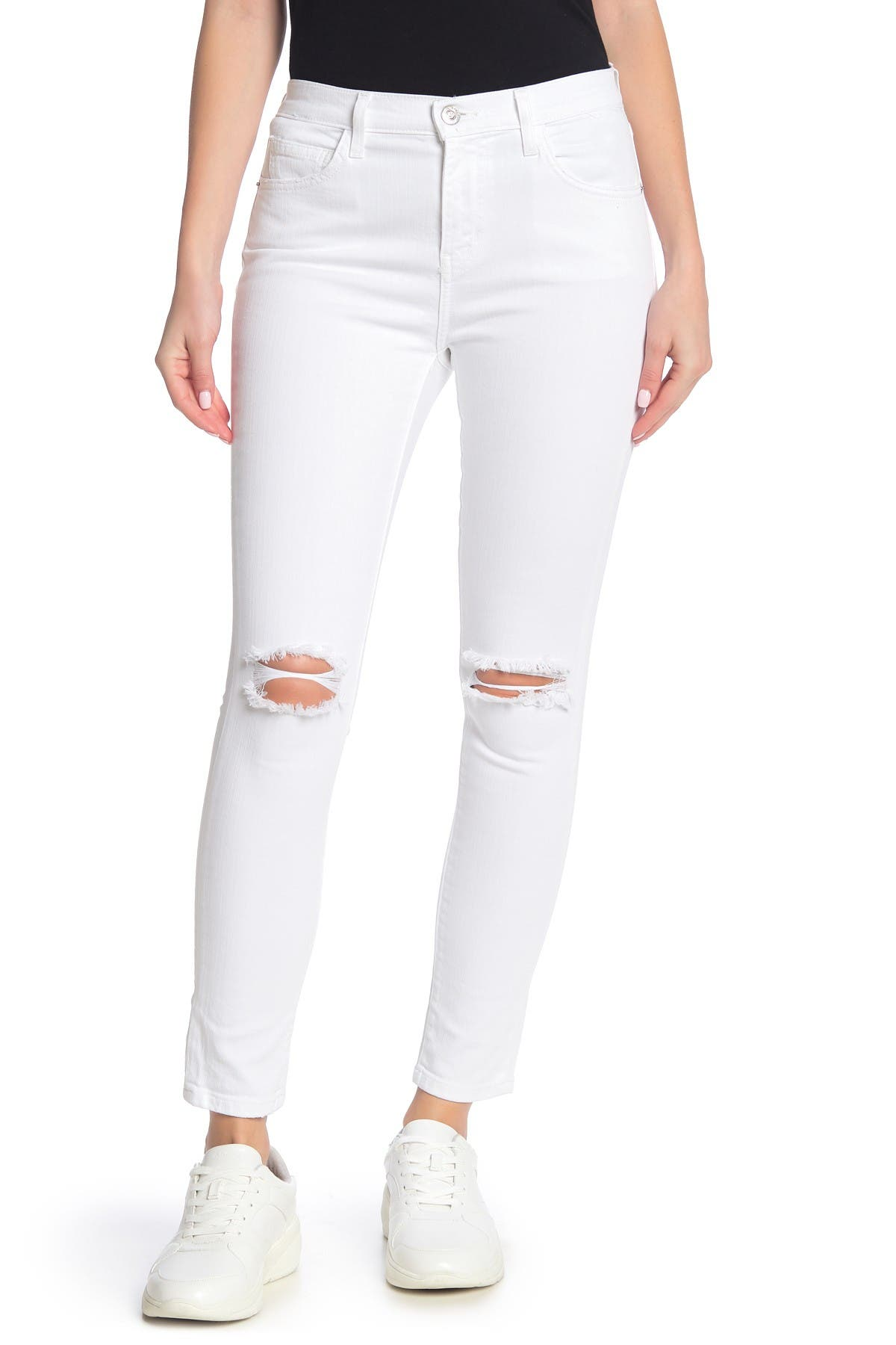 Image of Current/Elliott The High Waist Distressed Stiletto Jeans