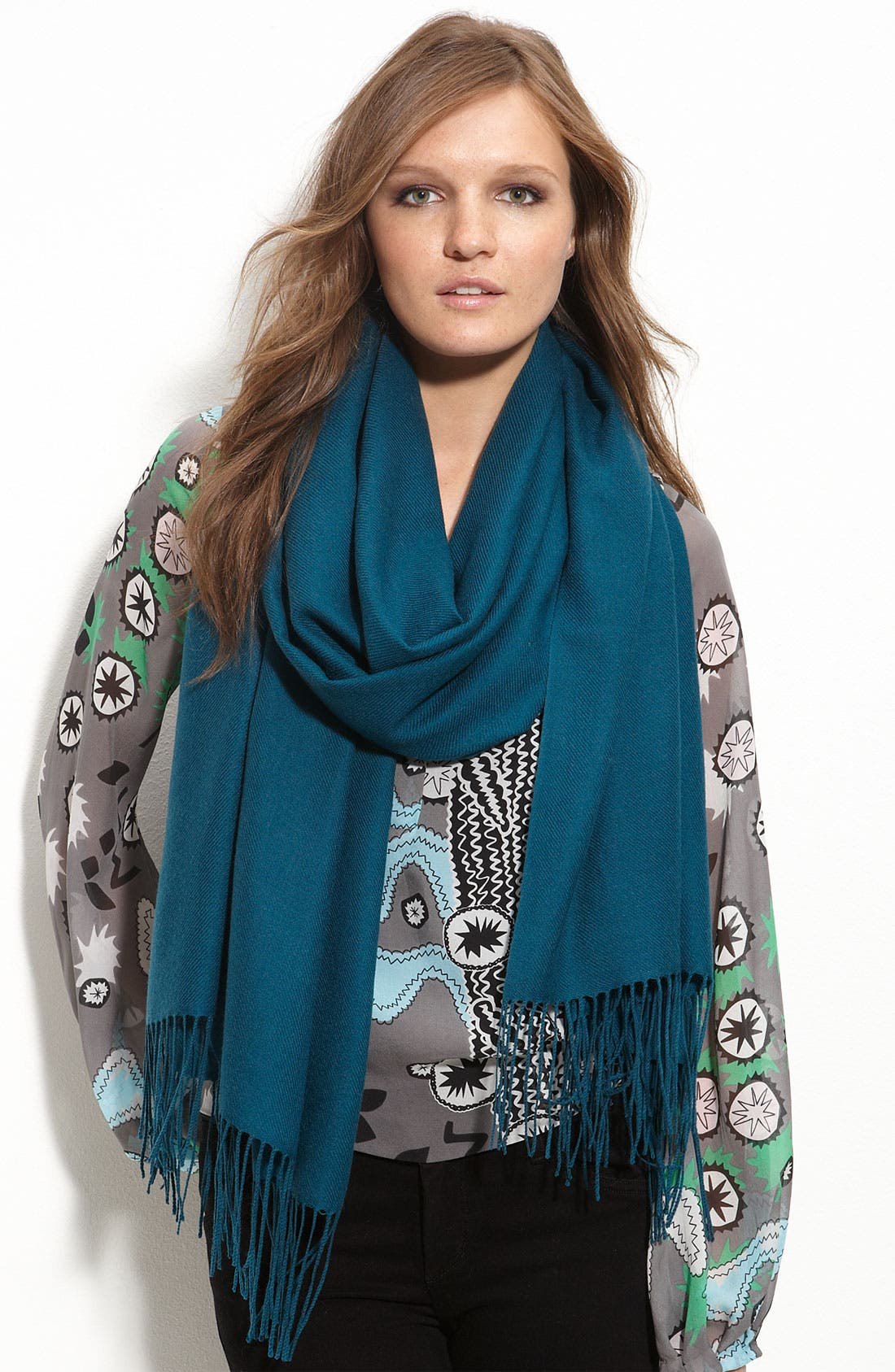 ,                             Tissue Weight Wool & Cashmere Wrap,                             Main thumbnail 76, color,                             404