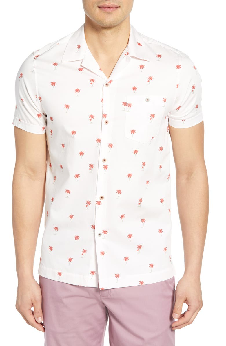TED BAKER LONDON Toadtwo Slim Fit Shirt, Main, color, LT-PINK