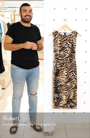 Medina Tiger Print Sheath Dress, sales video thumbnail