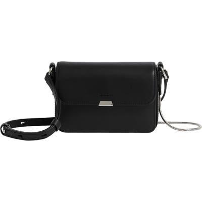 Allsaints Mini Captain Leather Crossbody Bag - Black