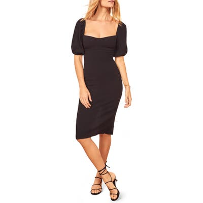 Reformation Jan Sheath Dress, Black