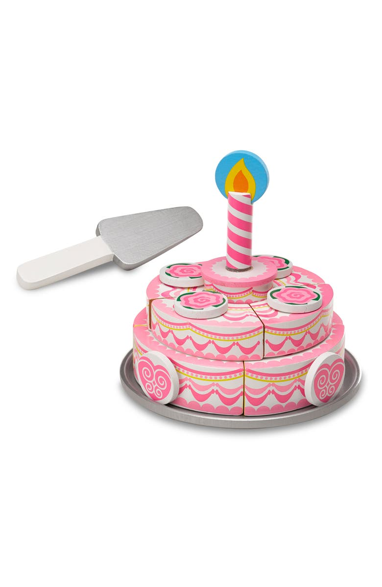MELISSA & DOUG Triple Layer Party Cake & Slice and Bake Cookie Set, Main, color, MULTI