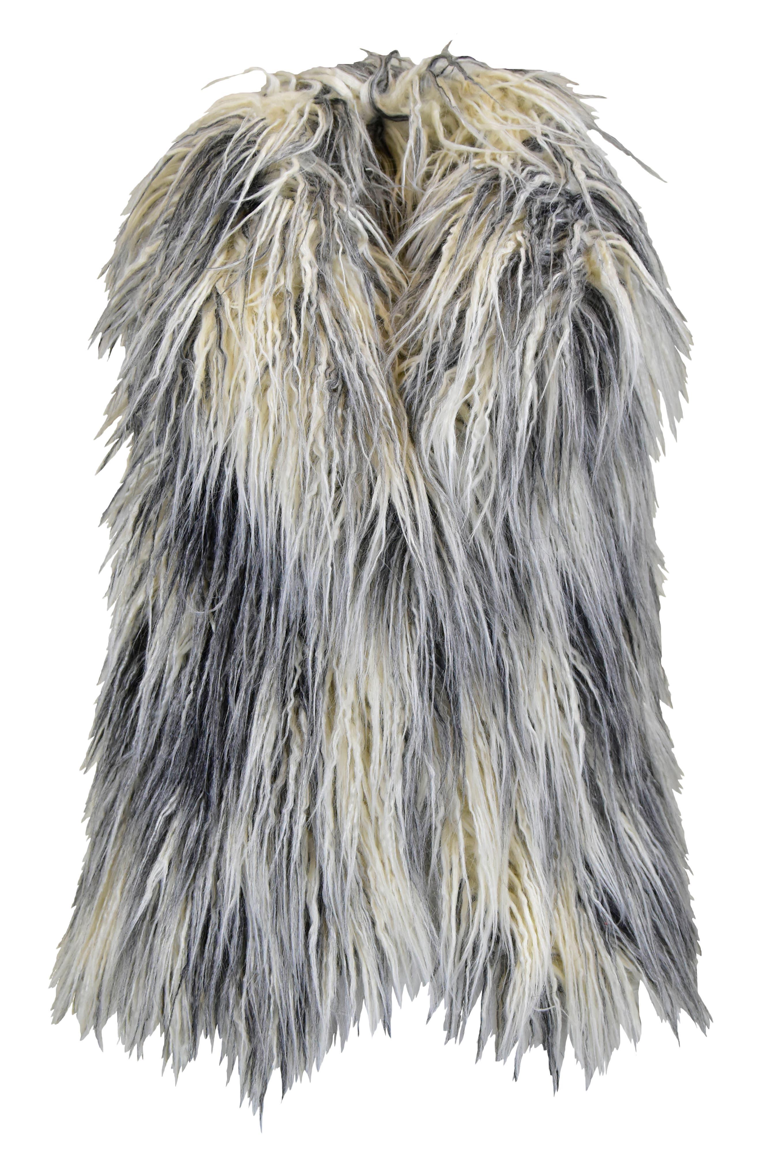 Image of WIDGEON Shawl Collar Faux Fur Vest