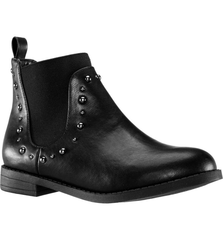 NINA Tianna Chelsea Boot, Main, color, BLACK SMOOTH