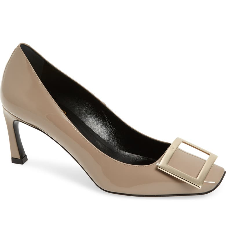 ROGER VIVIER Belle Vivier Trompette Pump, Main, color, CEMENT GREY