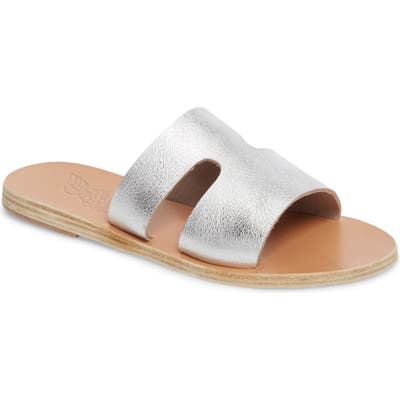 Ancient Greek Sandals Apteros Slide Sandal, Metallic